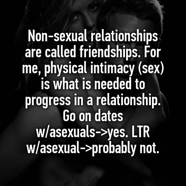 Non sexual relationship called
