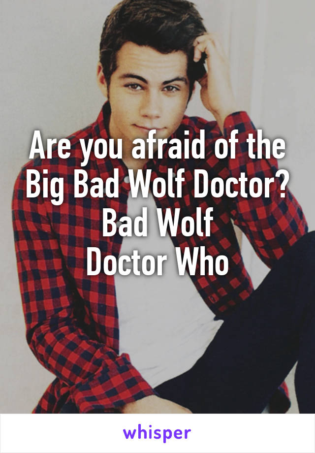 Are you afraid of the Big Bad Wolf Doctor? Bad Wolf Doctor Who