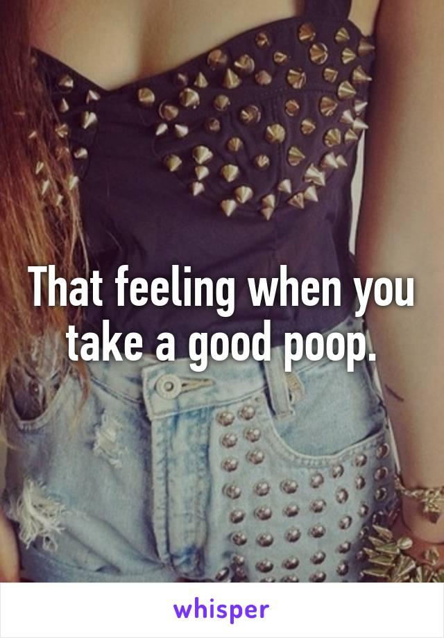 That feeling when you take a good poop.