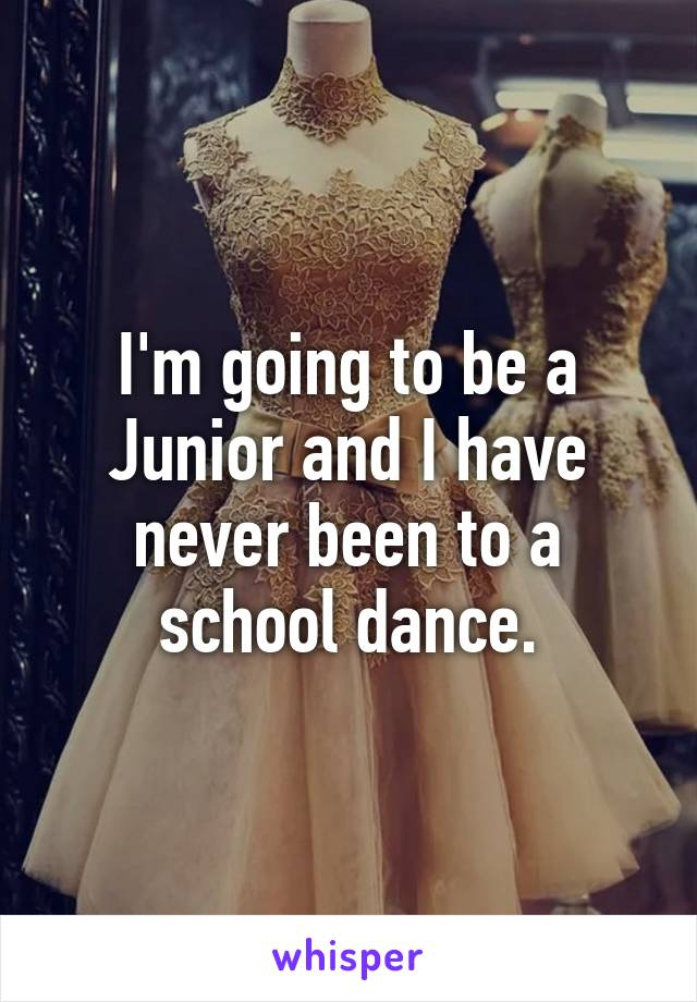 I'm going to be a Junior and I have never been to a school dance.