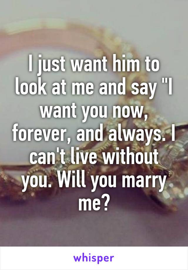 Marry will me for him you The Difference
