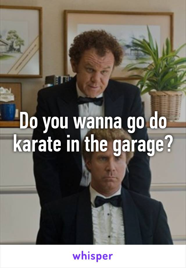 Do you want to do karate in the garage