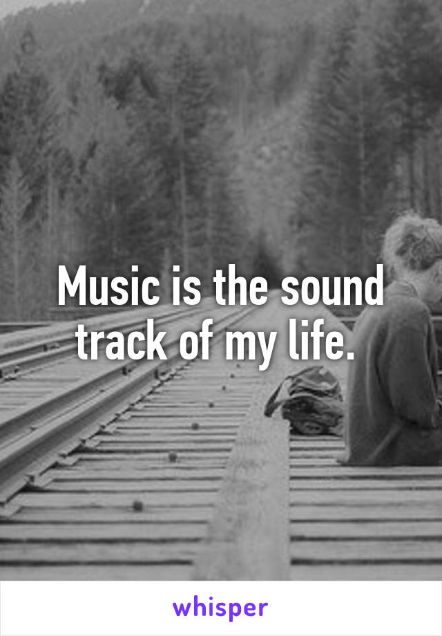 Music is the sound track of my life.
