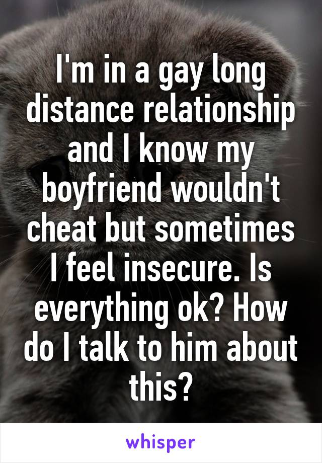 I feel insecure in my relationship