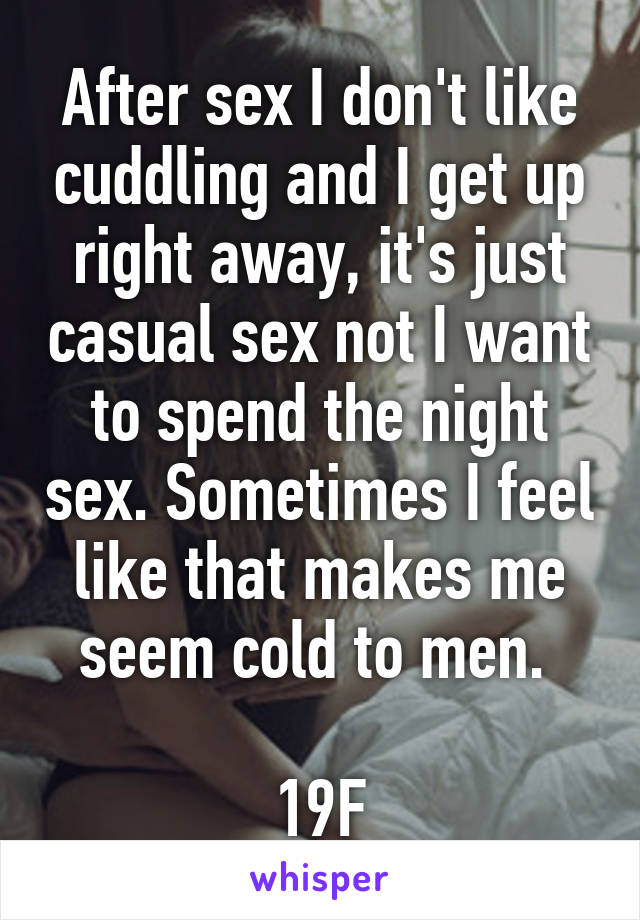 Not come right away sex