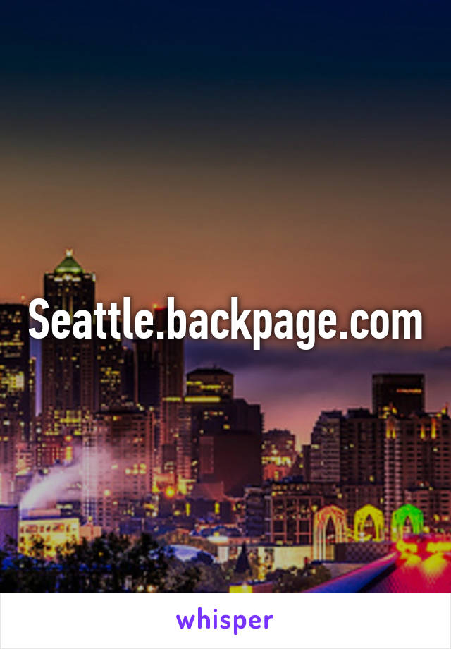 Backpageseattle
