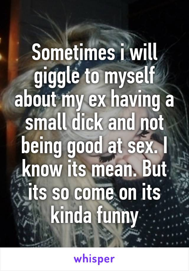 Having A Small Dick