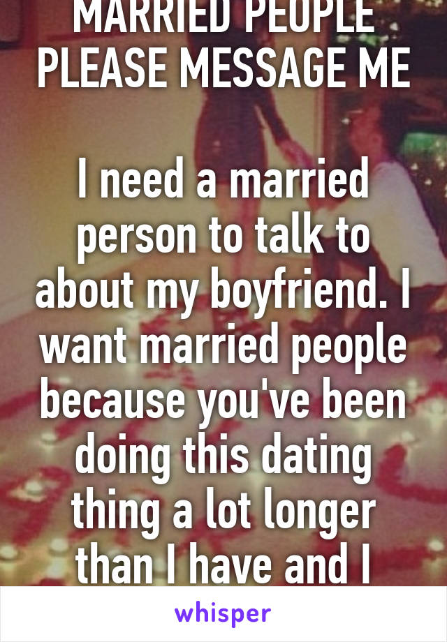 Married people dating