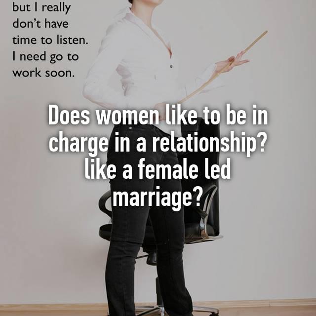 Women led marriage