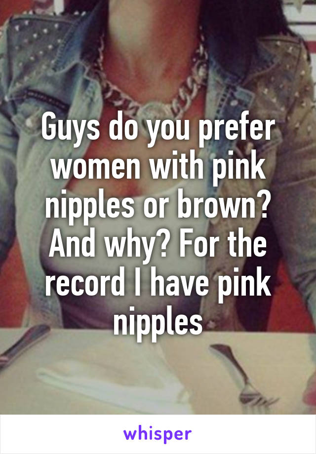 Women With Pink Nipples