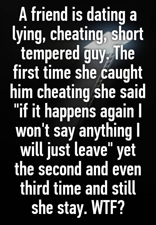 dating a short tempered guy