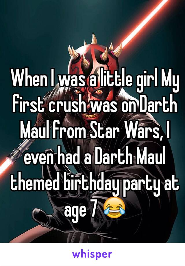 c5da9d19a9c632 When I was a little girl My first crush was on Darth Maul from Star Wars