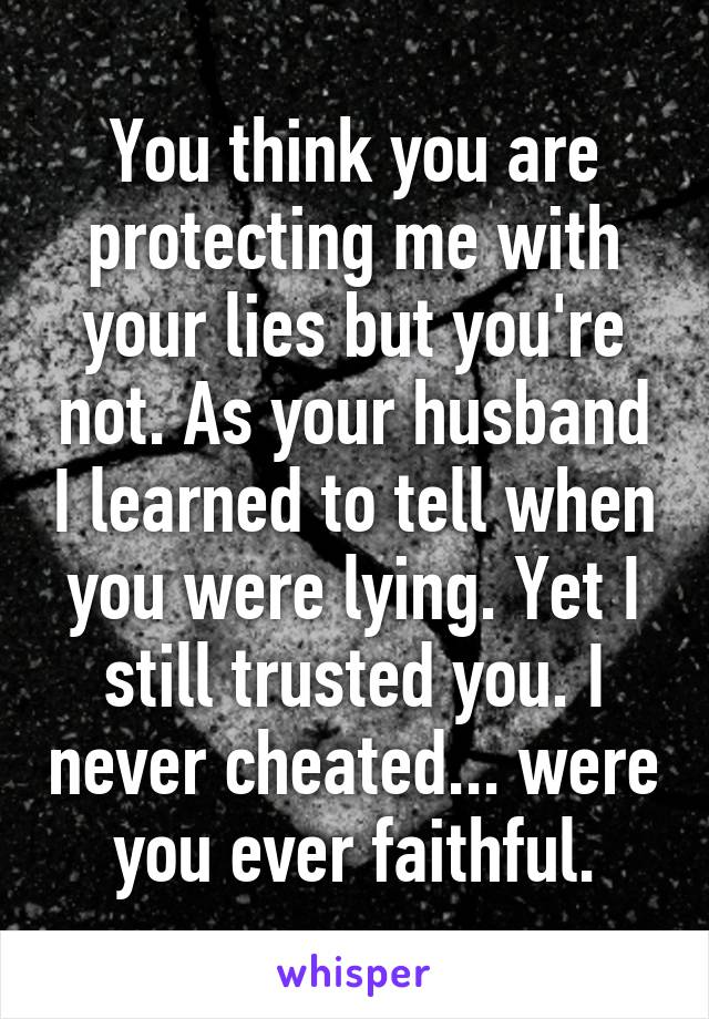 what to do if your husband lies