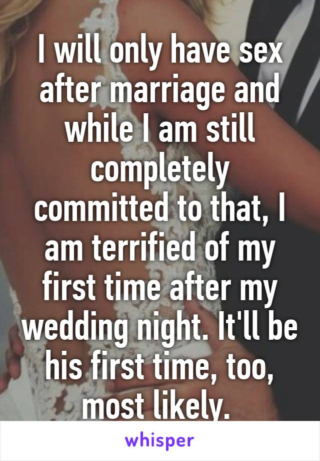 First time intercourse after marriage