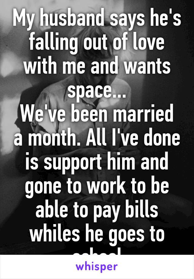 My wife wants space