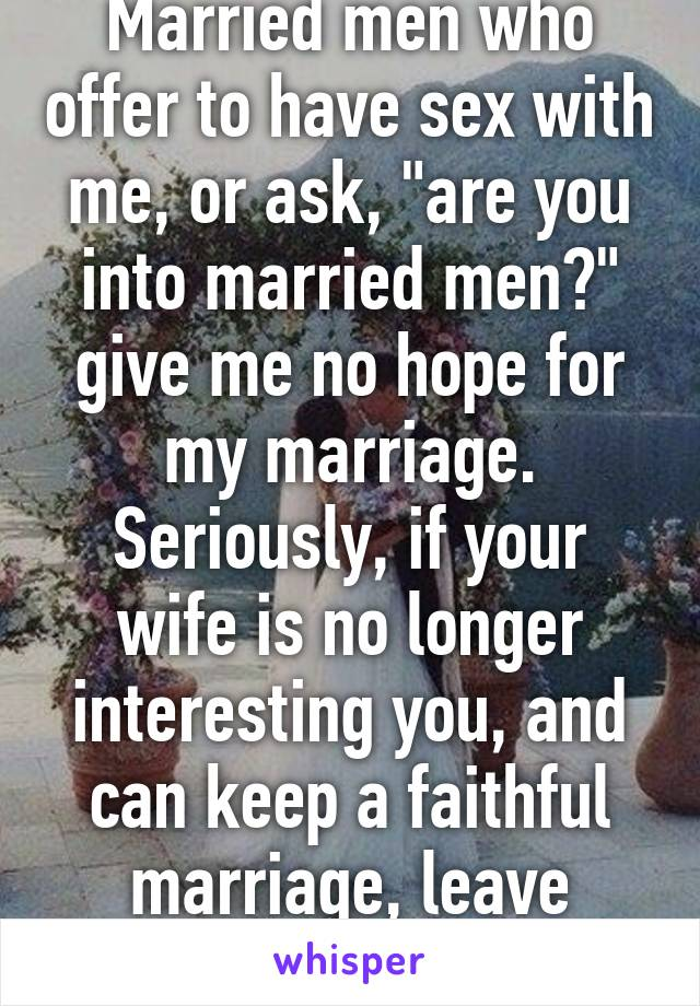 The lack of sex in my marriage