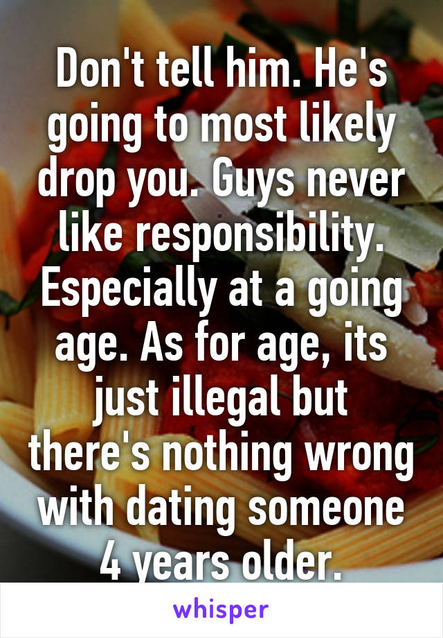 is dating someone 3 years older illegal