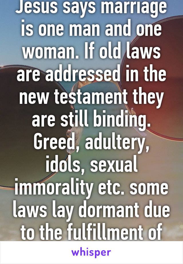 Sexual immorality in the old testament