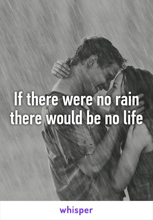 if there were no rain