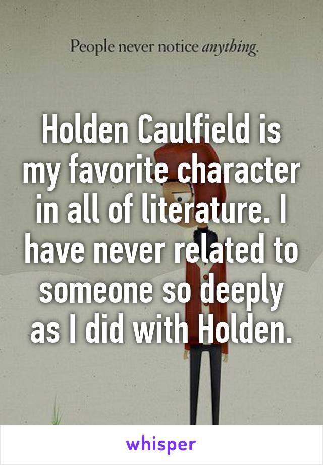 holden caulfield characterization