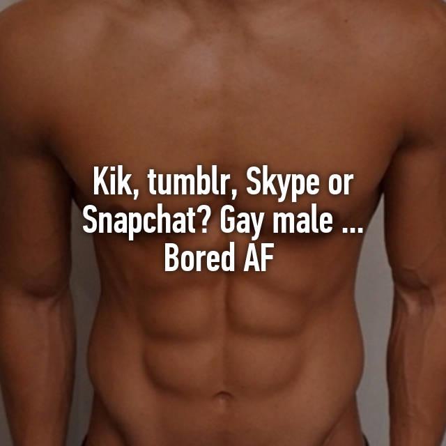 Gay snapchat tumblr