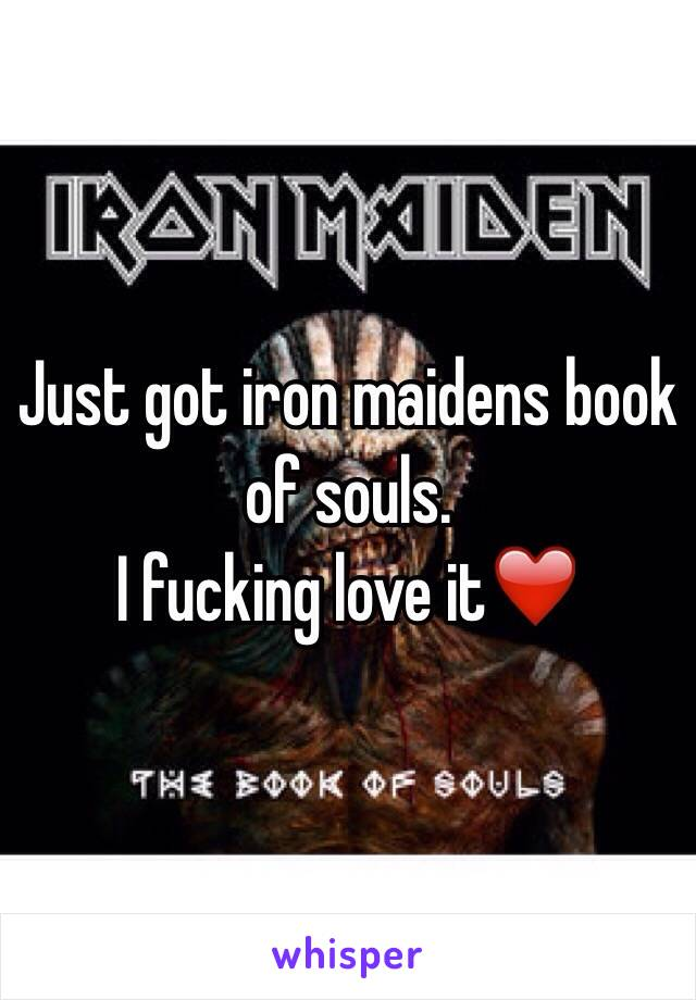 Just got iron maidens book of souls. I fucking love it❤️