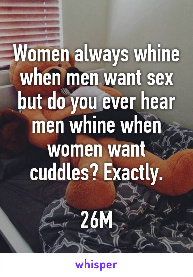 When men want sex