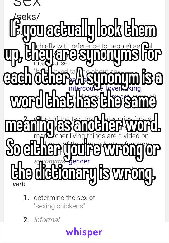 they synonyms