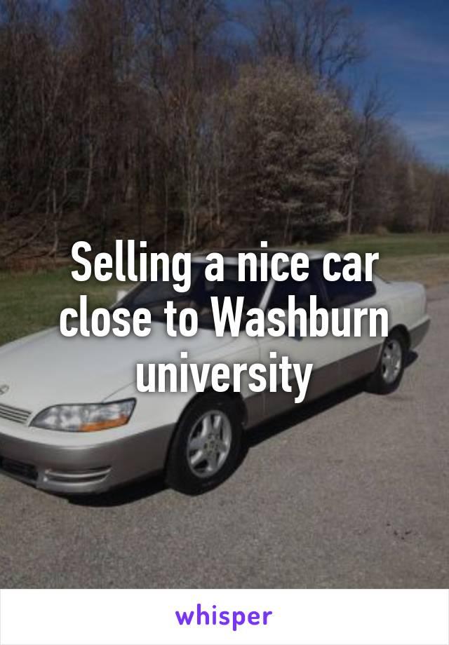 Selling a nice car close to Washburn university