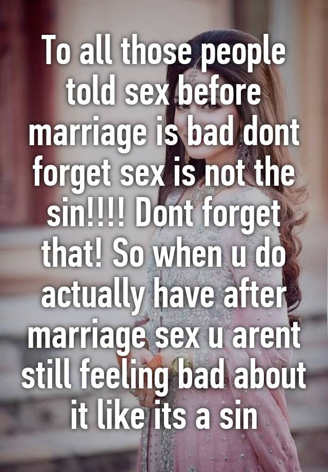 Why sex sin is so bad