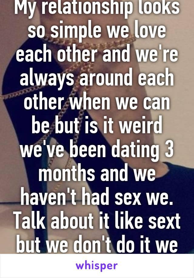 Dating 3 months no sex