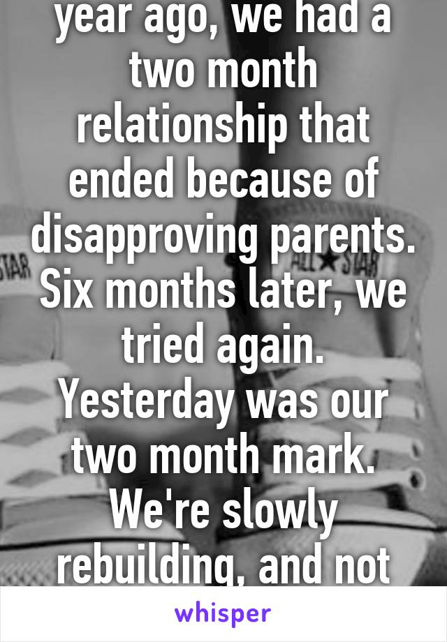 taking a relationship slowly