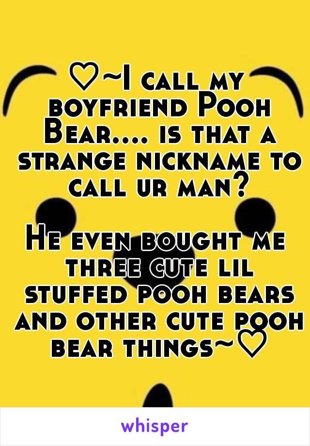 Bear nicknames boyfriend