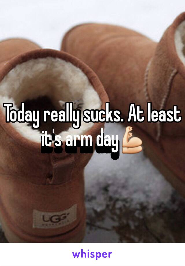 Today really sucks. At least it's arm day💪