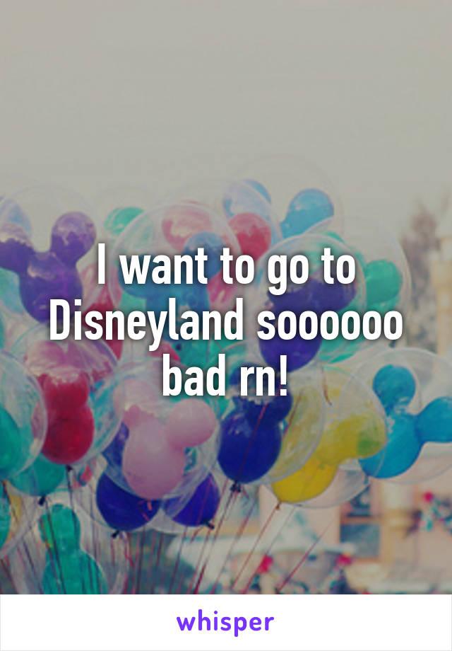 I want to go to Disneyland soooooo bad rn!