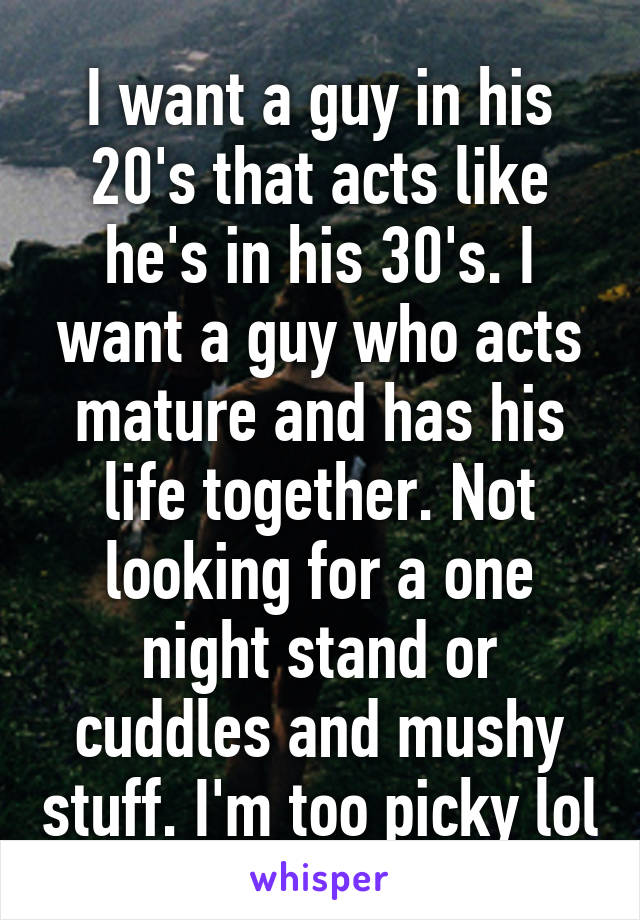 Mature one night stand