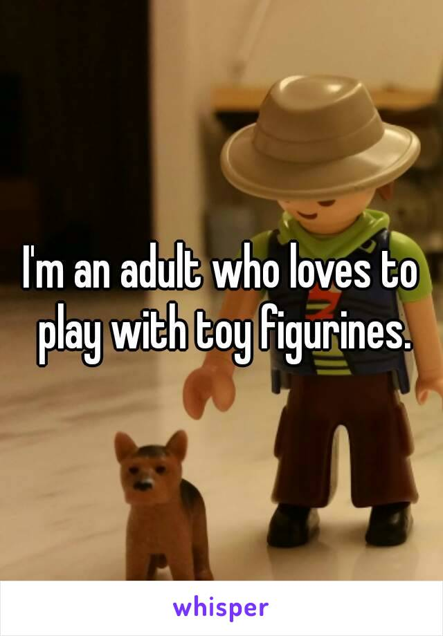 I'm an adult who loves to play with toy figurines.