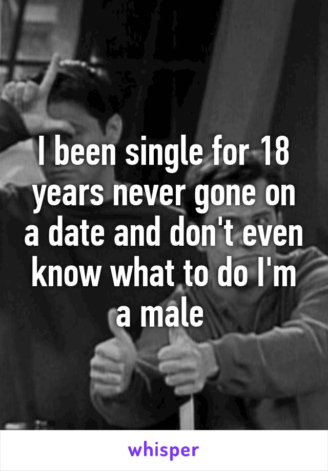I been single for 18 years never gone on a date and don't even know what to do I'm a male