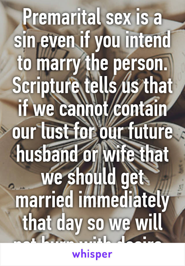 Why is premarital sex a sin images 72
