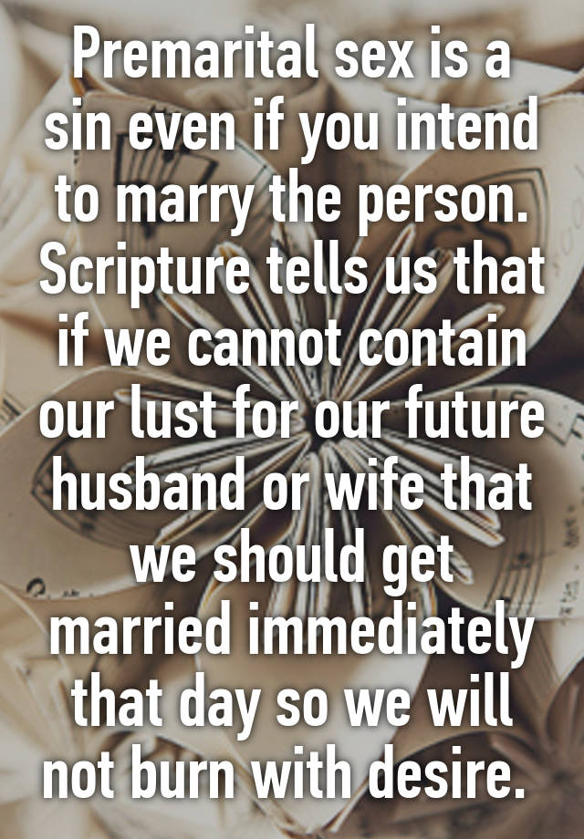 Premarital sex is not a sin pic 776
