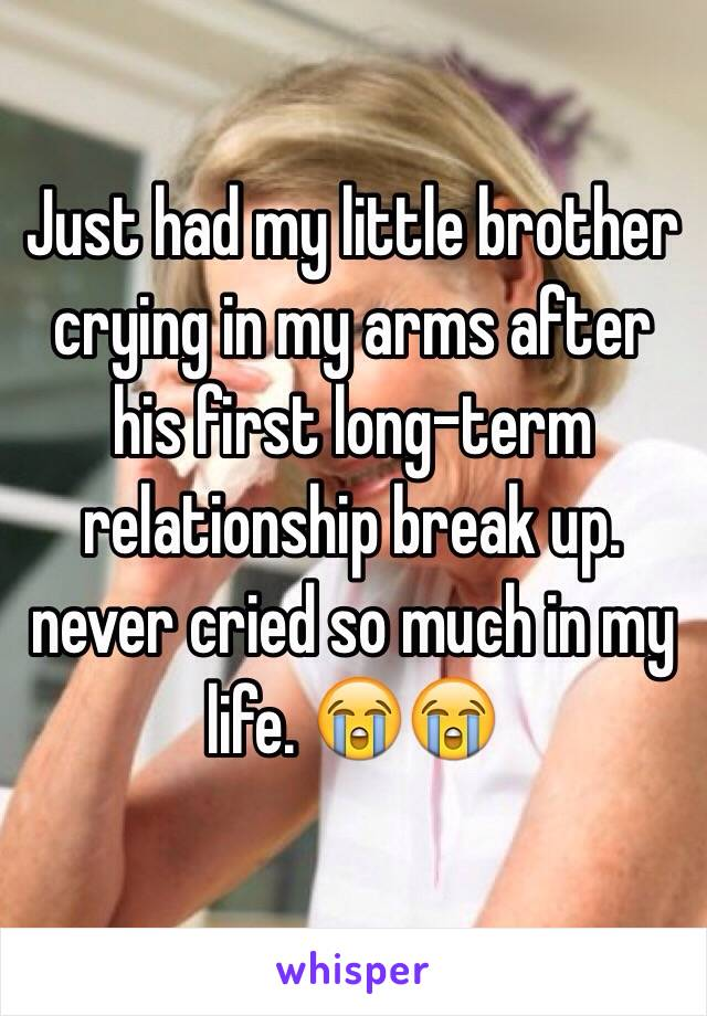 Just had my little brother crying in my arms after his first