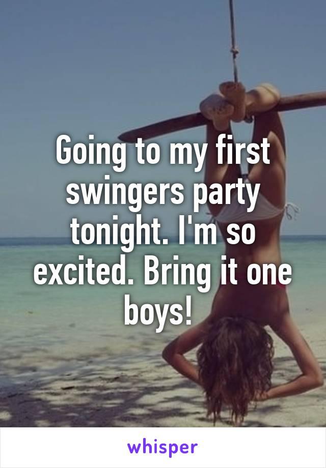 Swingers party tonight