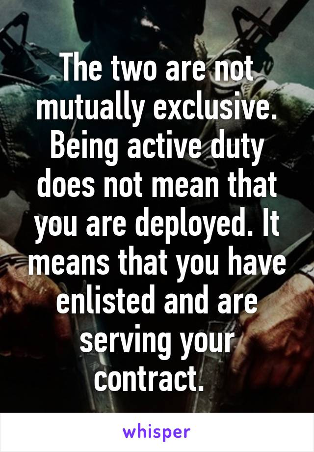 being exclusive means