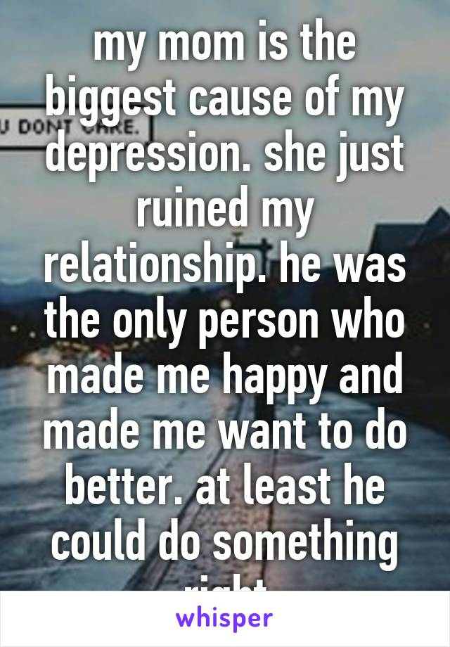 i ruined my relationship with depression