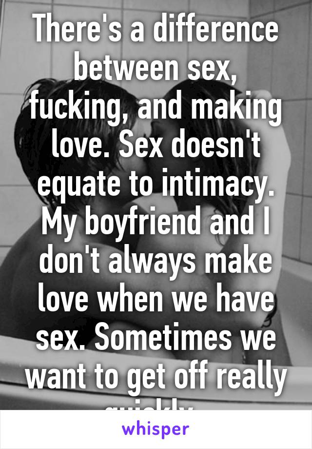 Love making different from sex
