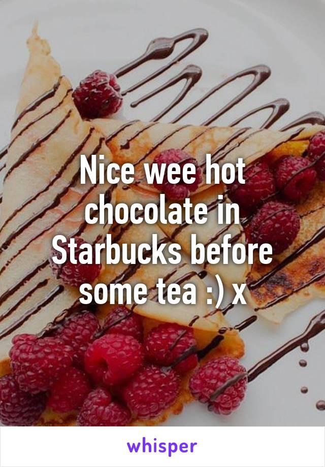 Nice wee hot chocolate in Starbucks before some tea :) x