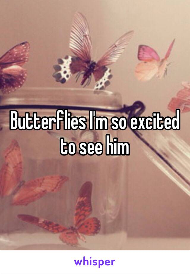 Butterflies I'm so excited to see him