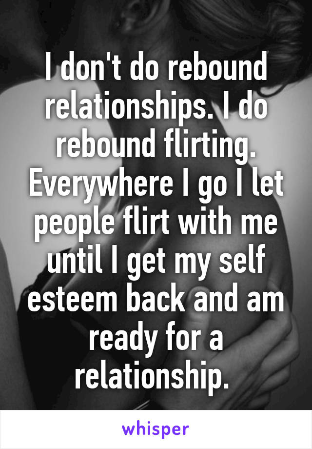 Rebound relationships don t last
