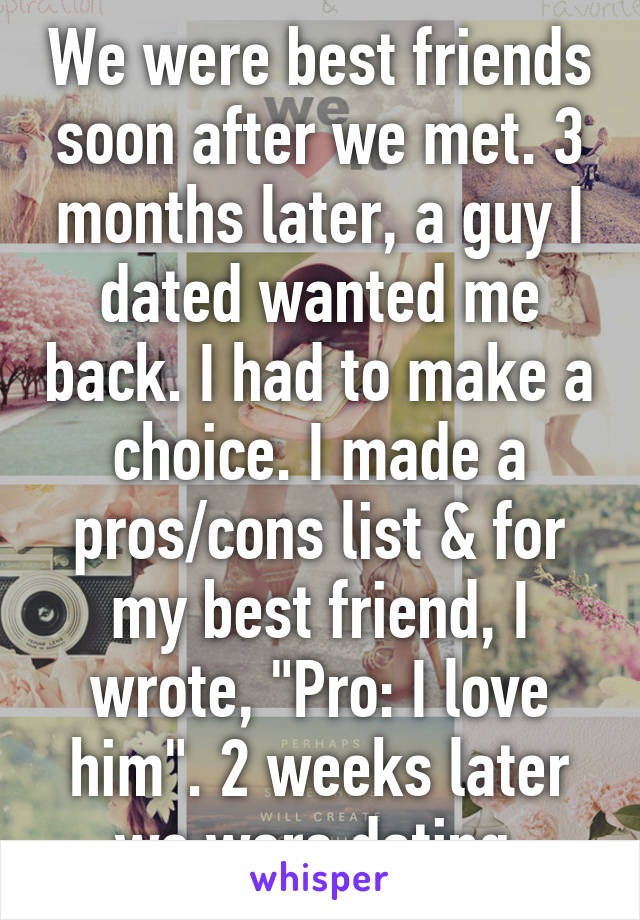 pros and cons of dating a friend