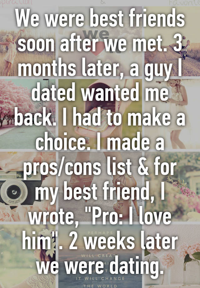 pros and cons of best friends dating